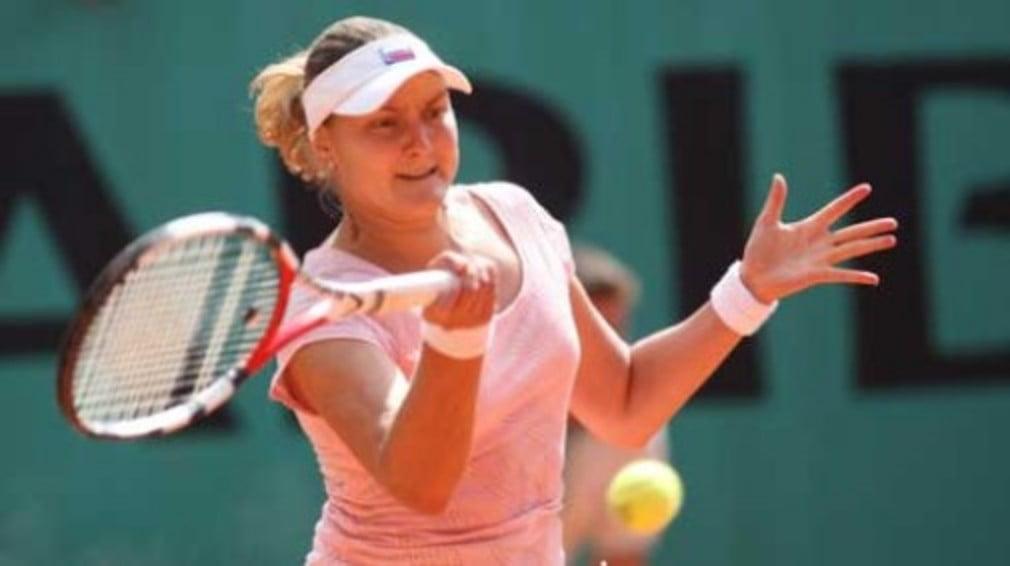 The Russian No.8 seed plays Poland's Agnieszka Radwanska