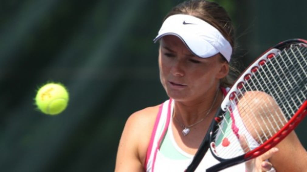 It was a bad day at the office for Daniela Hantuchova as her return from a recent foot injury was cut short.