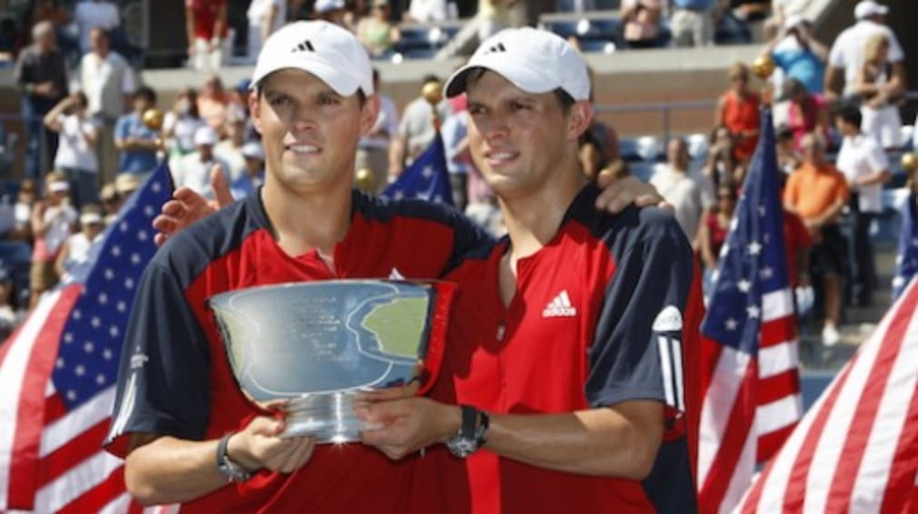 The Americans won their second US Open doubles title after pipping Leander Paes and Lukas Dlouhy in two tiebreaks...