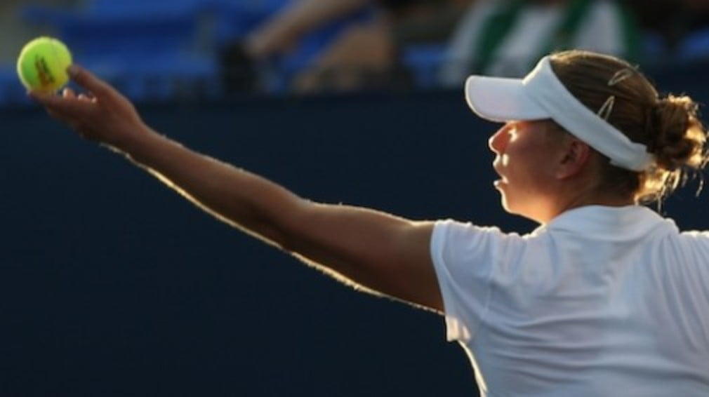 The world No.7 gave the defending champions a 3-0 lead with victory against Spain's Anabel Medina Garrigues