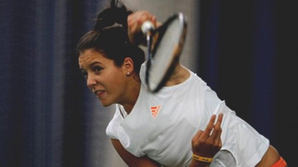 The Wimbledon Junior champion claims her third senior scalp of the week