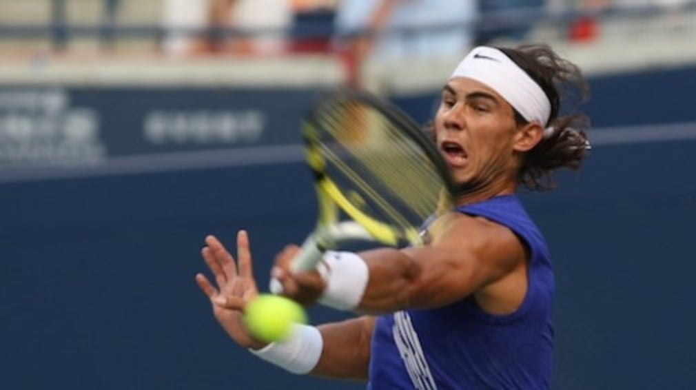 Nadal fans breathe a sigh of relief as Rafa squeezes past Ernests Gulbis at the Madrid Masters on Tuesday night.