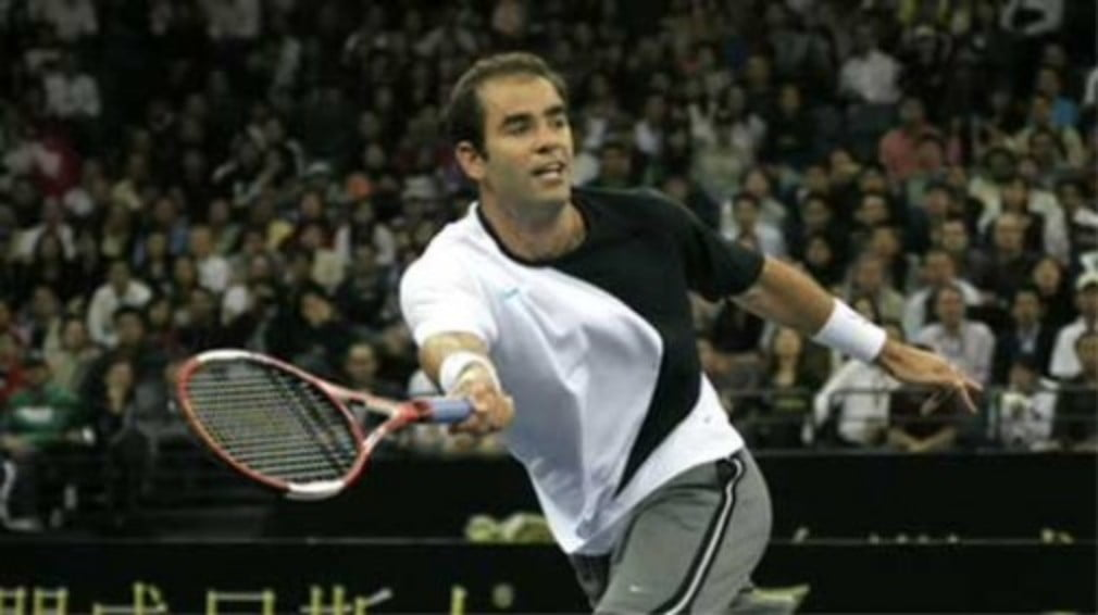 Pistol Pete proves too good for Mac the mouth on Sampras first appearance on British soil for six years at London's Royal Albert Hall.