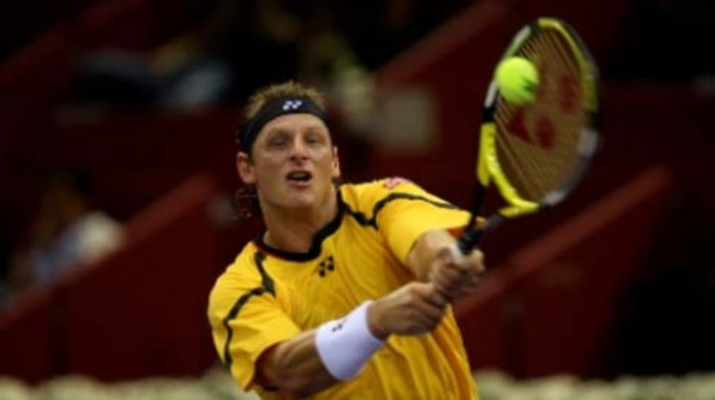 David Nalbandian's name will be absent from the Aussie Open third round draw after Chinese Taipei's Yen-Hsun Lu kept his head to dispatch the Argentine.