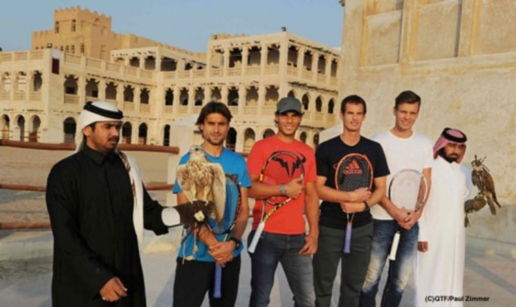 In advance of the start of the Qatar ExxonMobil Open