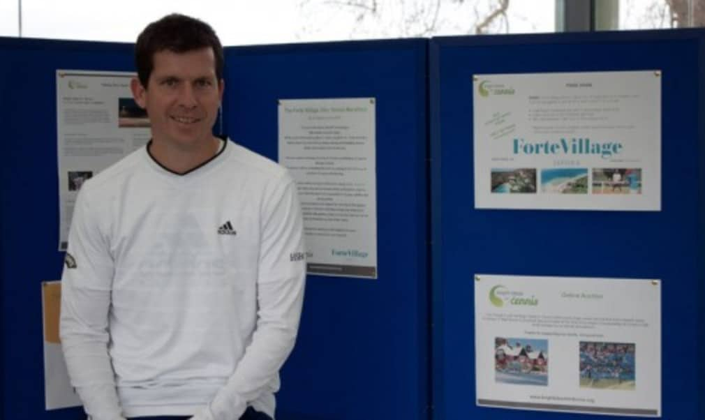 Former world No.4 Tim Henman has lent his support to fundraising efforts for British charity Bright Ideas for Tennis
