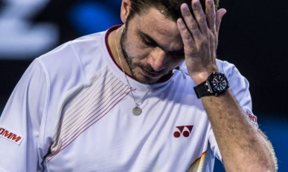 Stanislas WawrinkaŠ—Ès unbeaten start to 2014 came to an end at the hands of Kevin Anderson at the BNP Paribas Open in Indian Wells