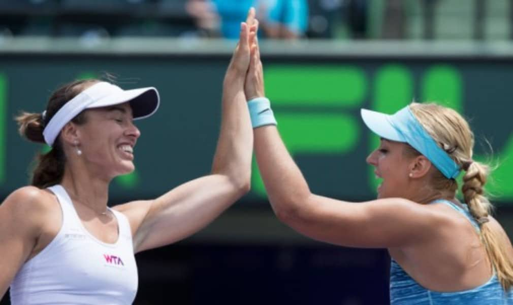 Martina Hingis confirmed she will continue her doubles comeback after lifting the Sony Open title with Sabine Lisicki in Miami