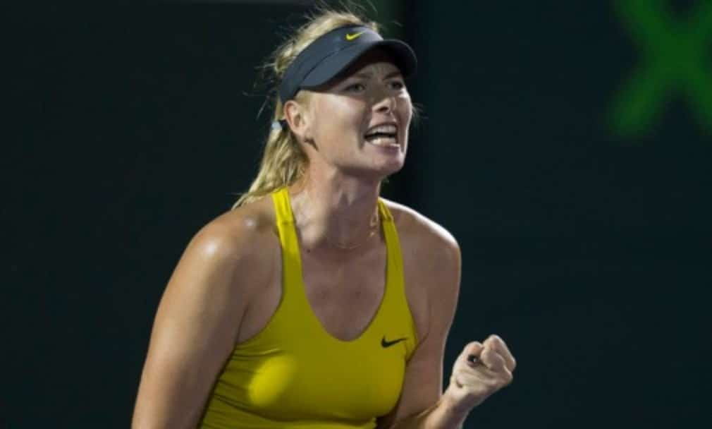 Maria Sharapova won the Mutua Madrid Open for the first time after battling back to beat Simona Halep 1-6 6-2 6-3 in the final