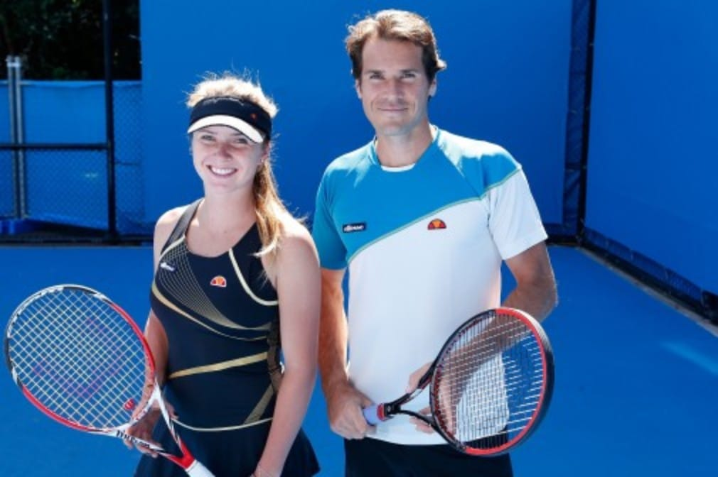 "Tommy Haas and Elina Svitolina have swapped ground strokes for paint strokes as part of ellesseŠ—Ès new Š—""Together We PlayŠ— campaign"