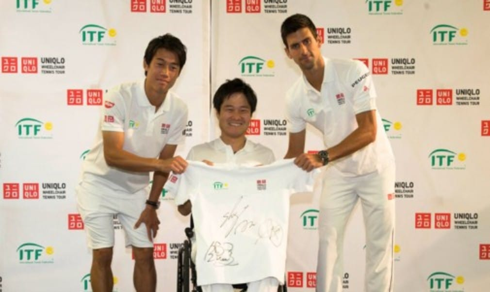 Novak Djokovic was on good form at a press conference held at Stoke Park by the International Tennis Federation to announce a three-year title sponsorship of wheelchair tennis by Fast Retailing brand Uniqlo