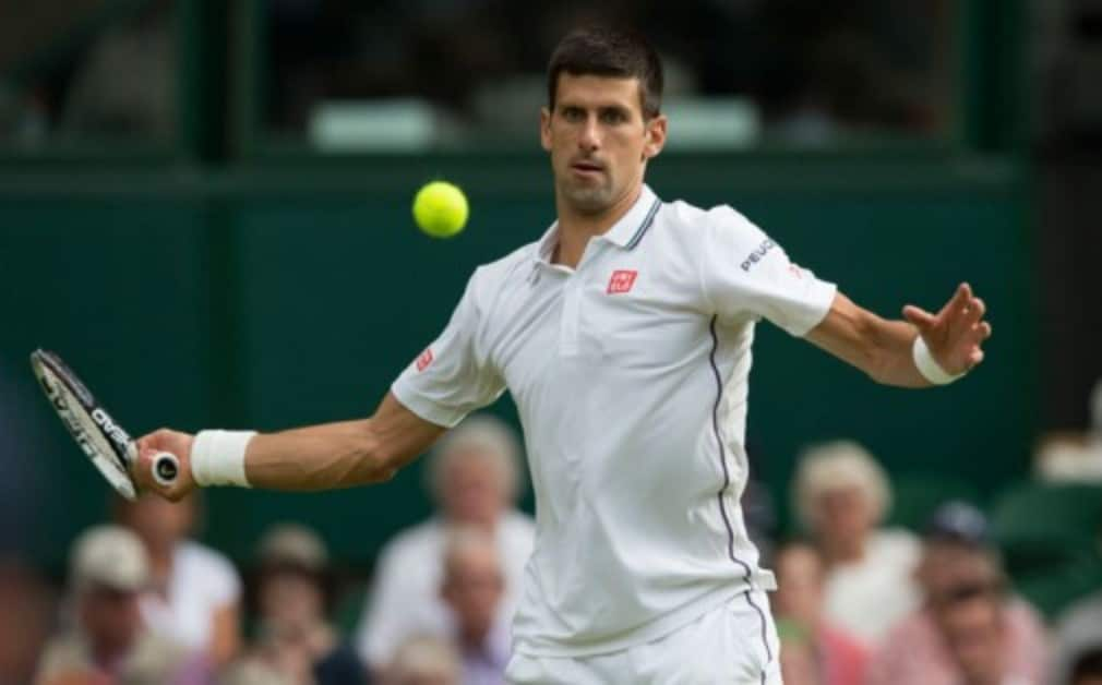 """Novak Djokovic said there was Š—""""no damageŠ— to his shoulder after taking a painful fall during his 6-4 6-2 6-4 win over Gilles Simon"""