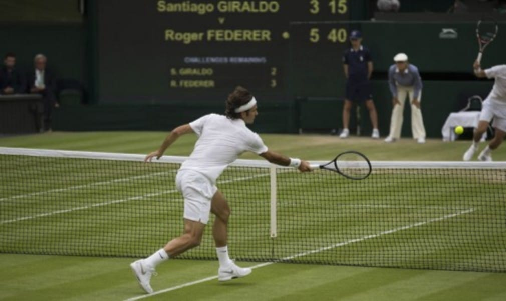 Rafael Nadal recovered from losing the opening set for the third match in a row to beat Mikail Kukushkin while Roger Federer continued his serene progress into the second week