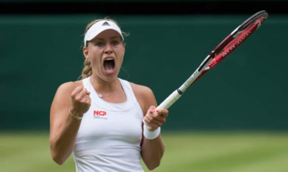 Maria SharapovaŠ—Ès bid to win a second Wimbledon crown was ended in dramatic fashion by Angelique Kerber in the fourth round on Tuesday