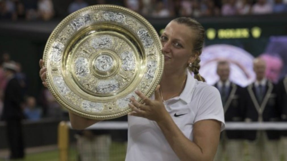 Petra Kvitova produced a breathtaking performance to crush Eugenie Bouchard and win her second Wimbledon title