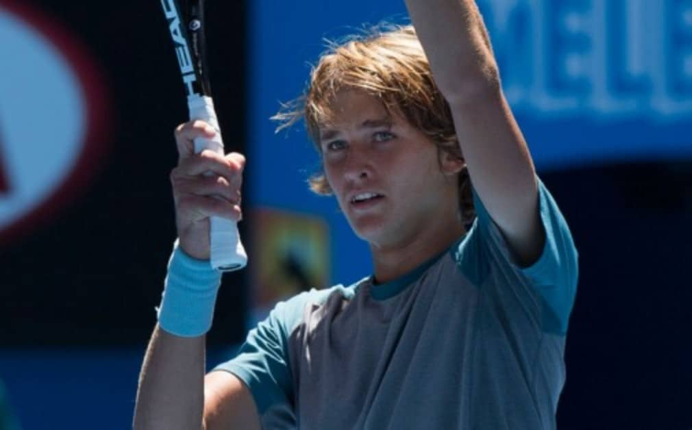 """Alexander Zverev became the youngest player to win a Challenger event in five years after an Š—""""unbelievableŠ— victory at the Sparkassen Open"""