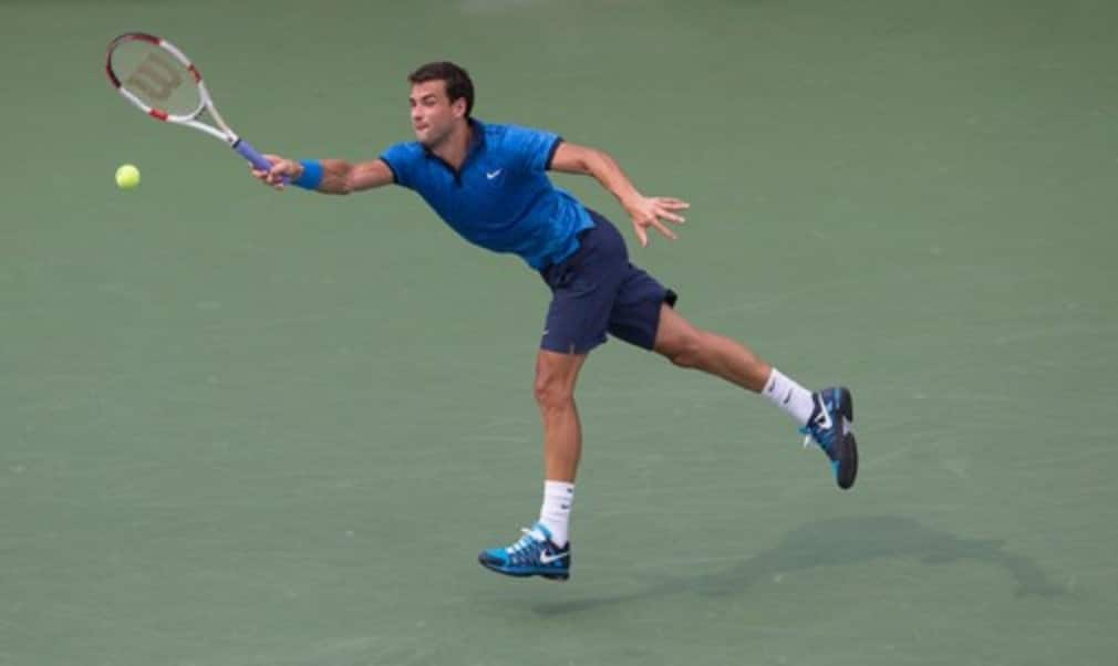Gael Monfils may have denied Grigor Dimitrov a place in the US Open quarter-finals on Tuesday
