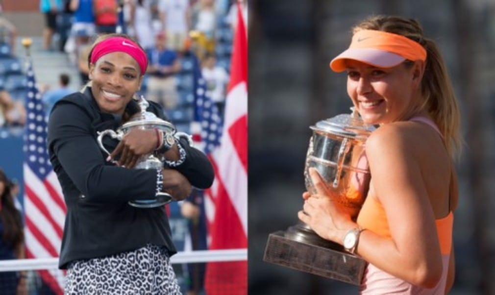Serena Williams and Maria Sharapova are the first two players to qualify for the BNP Paribas WTA Finals in Singapore