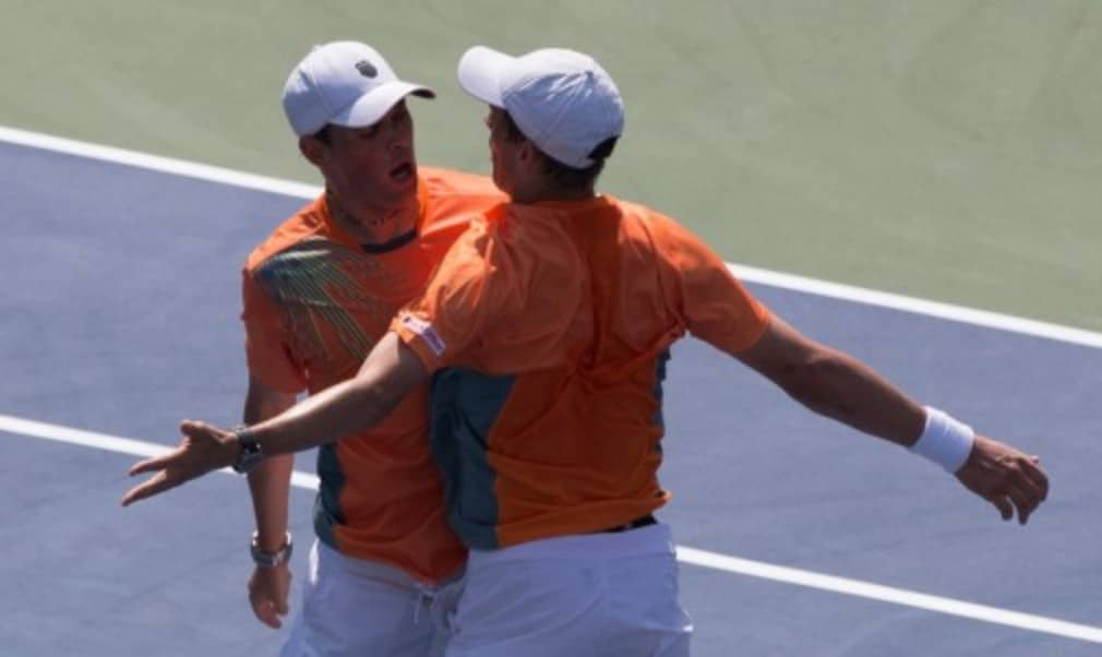 Bob and Mike Bryan claimed another milestone in their record-breaking doubles careers after they became the first players to win the Career Golden Masters