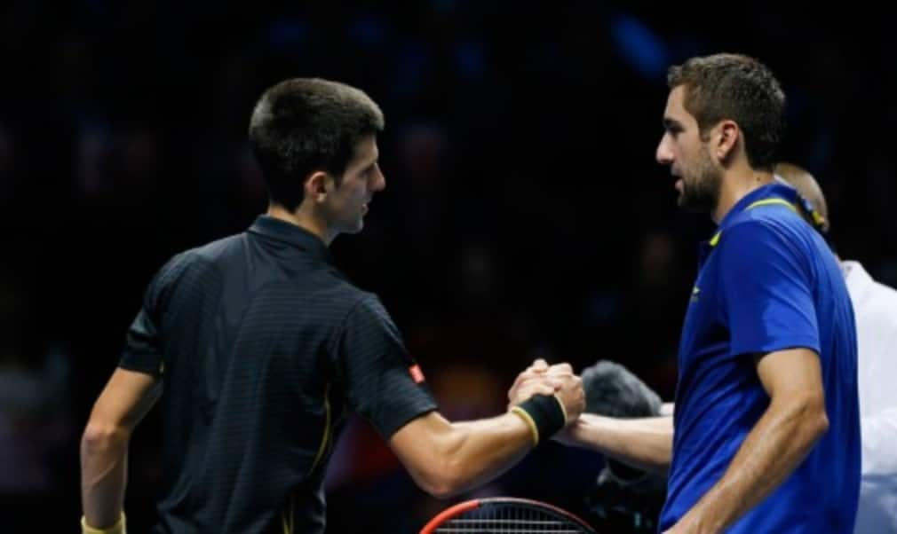 Neither of MondayŠ—Ès singles matches lasted beyond the hour mark as Novak Djokovic and Stan Wawrinka opened their Barclays ATP World Tour Finals accounts in style on Monday