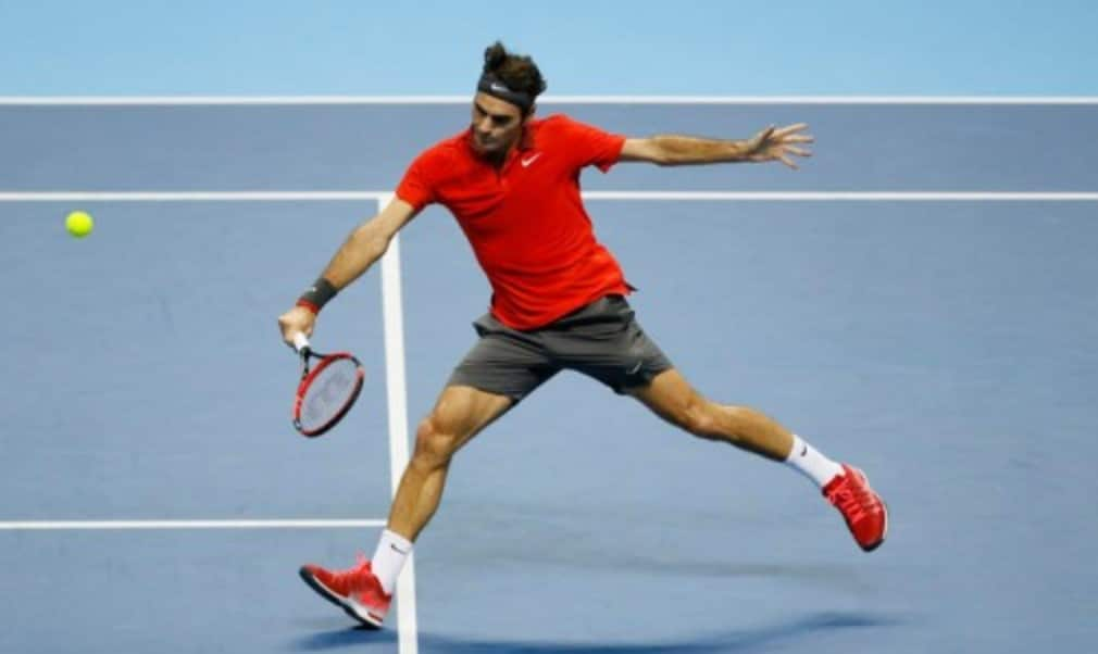 Andy MurrayŠ—Ès season came to an end at the hands of Roger Federer as the six-time champion became the first man to book his place in the last four at the Barclays ATP World Tour Finals