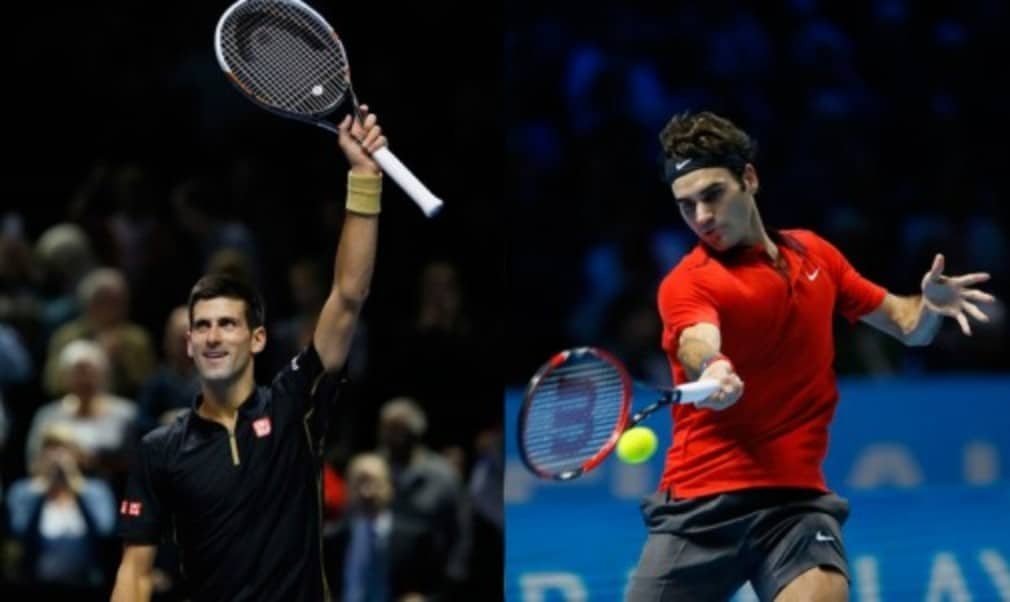 Roger Federer saved four match points as he defeated fellow Swiss Stan Wawrinka to set up a final showdown with world No.1 Novak Djokovic at the Barclays ATP World Tour Finals