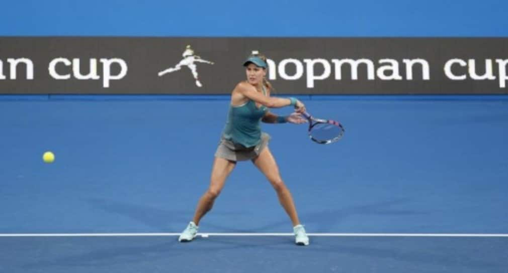 Genie Bouchard notched up her first career win against World No.1 Serena Williams in Perth