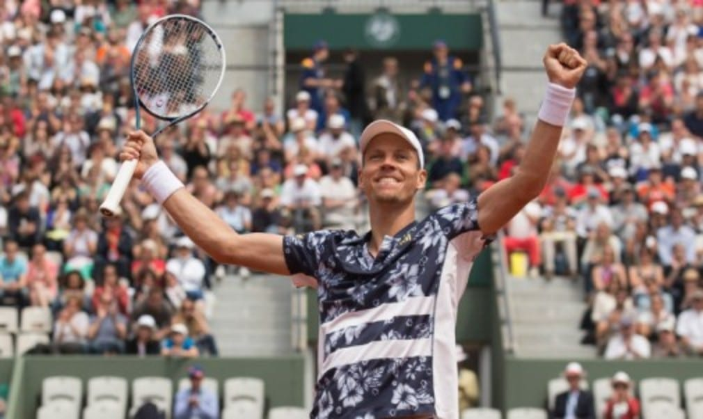 The eye-catching shirts worn by Tomas Berdych this year may have become a talking point