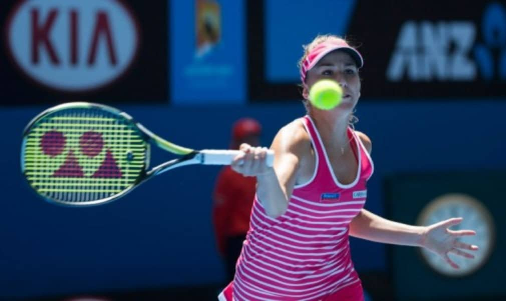 Belinda Bencic suffered a disappointing first-round defeat at the Australian Open as she lost in straight sets to Julia Goerges