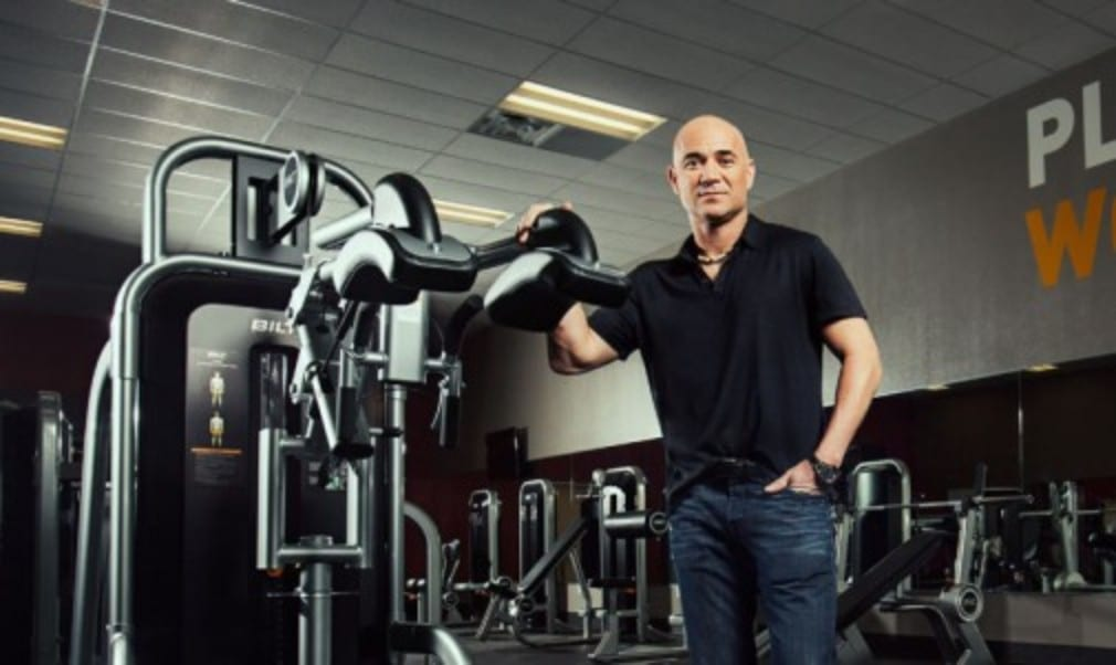 To celebrate Andre Agassi bringing his gym equipment to the UK
