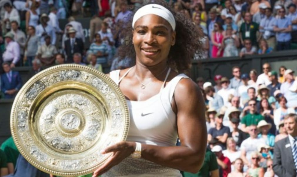 Serena Williams completed the second Š—…Serena SlamŠ—È of her career after defeating Garbine Muguruza to win her sixth Wimbledon title