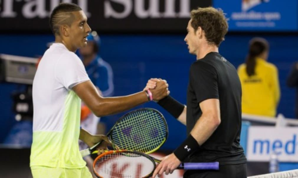 Andy Murray will meet Nick Kyrgios in his opening match at the US Open after being drawn in the same half of the draw as Roger Federer