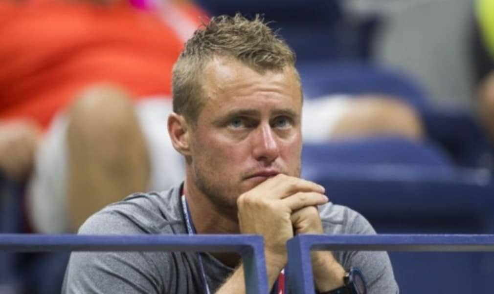 Former US Open champion Lleyton Hewitt made his 15th appearance at Flushing Meadows on Tuesday