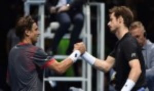 Andy Murray will take on Rafael Nadal on Wednesday after both players won their opening round-robin matches at the Barclays ATP World Tour Finals on Monday
