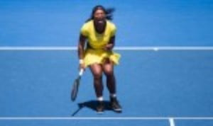 Serena Williams awarded herself an Š—…A for effortŠ—È after she survived a tough first round draw at the Australian Open
