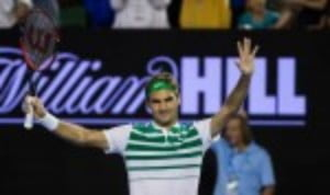 Roger Federer maintained his perfect record against Grigor Dimitrov to clock up his 600th Grand Slam match win and move into the fourth round at the Australian Open
