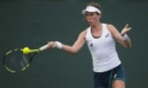 Johanna KontaŠ—Ès run at the Miami Open came to an end in the quarter-finals