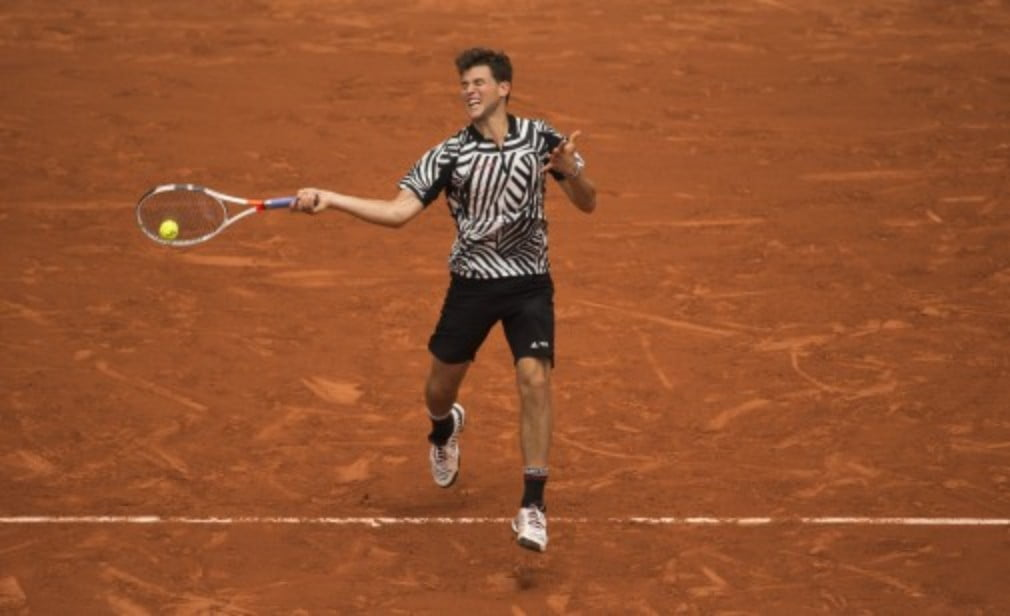 Dominic Thiem was upbeat after booking his place in the fourth round at Roland Garros