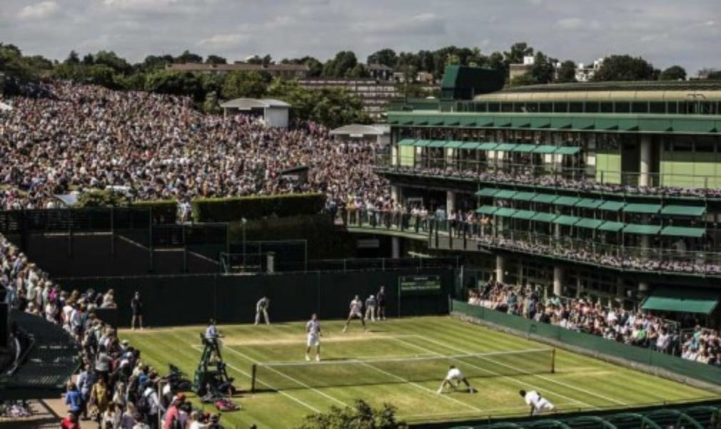 This is only the fourth time in 130 years that there has been play on the middle Sunday at Wimbledon