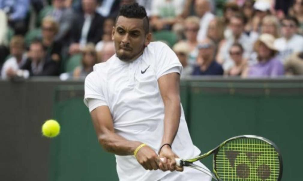 Nick Kyrgios is hoping to pull off another Centre Court upset when he takes on Andy Murray at Wimbledon on Monday