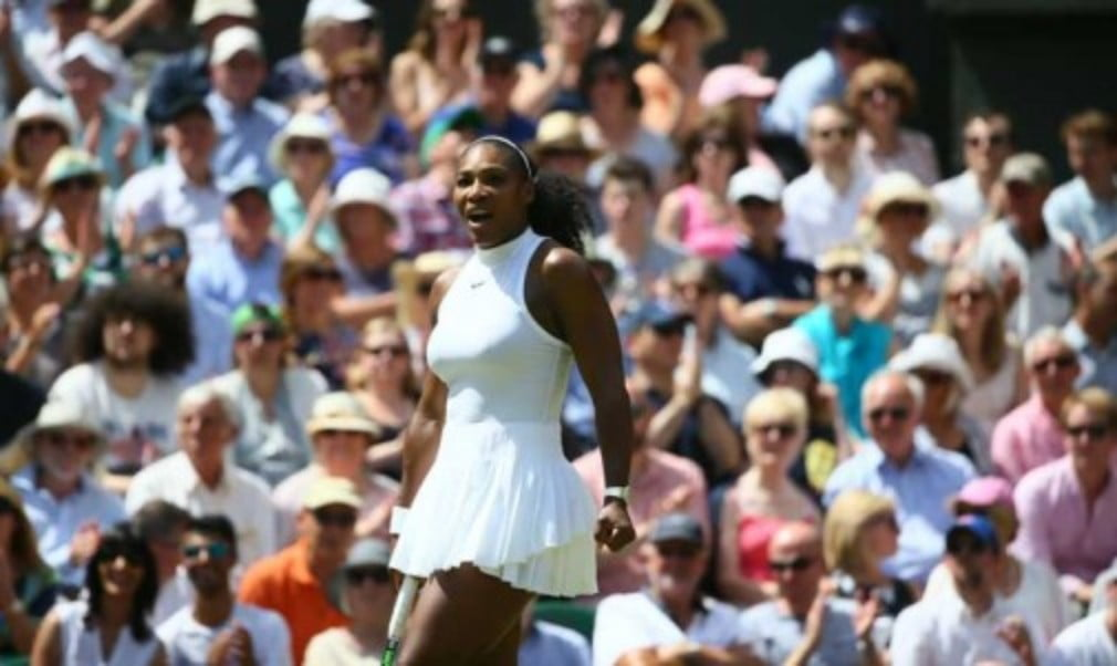 Serena Williams says she feels more relaxed than she did before her last two major finals after reaching the Wimbledon final for a ninth time