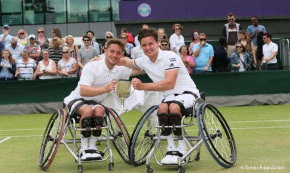 Gordon Reid and Alfie Hewett made history at Wimbledon on Saturday as they became the first British pair to win a wheelchair doubles title
