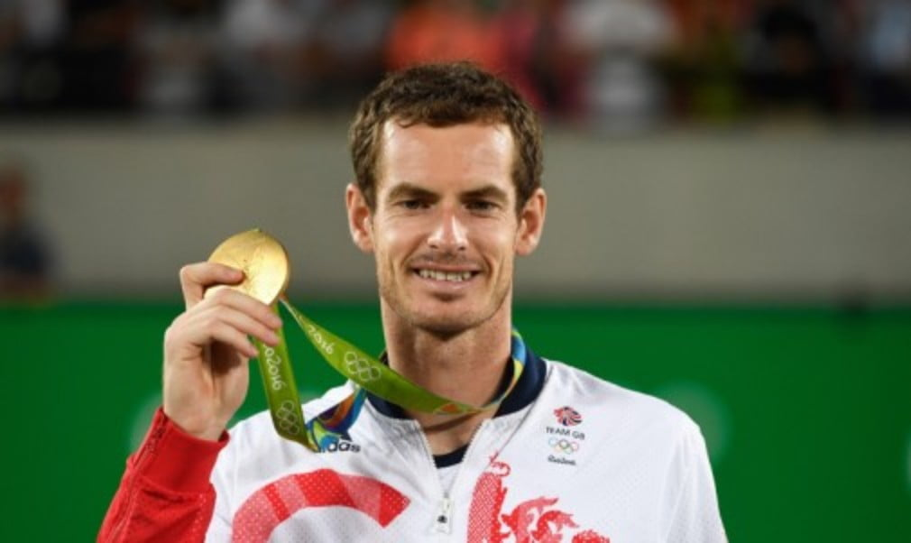 Andy Murray became the first man in tennis history to retain his Olympic singles title when he defeated Juan Martin del Potro