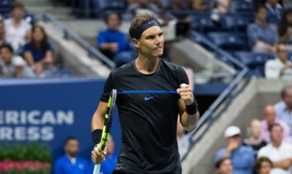 Rafael Nadal made history on Wednesday as he became the first man to win a match under the Arthur Ashe Stadium roof