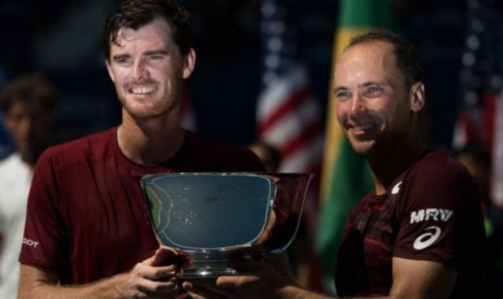 Jamie Murray and Bruno Soares beat Pablo Carreno Busta and Guillermo Garcia - Lopez 6-2 6-3 to become 2016 US Open champions