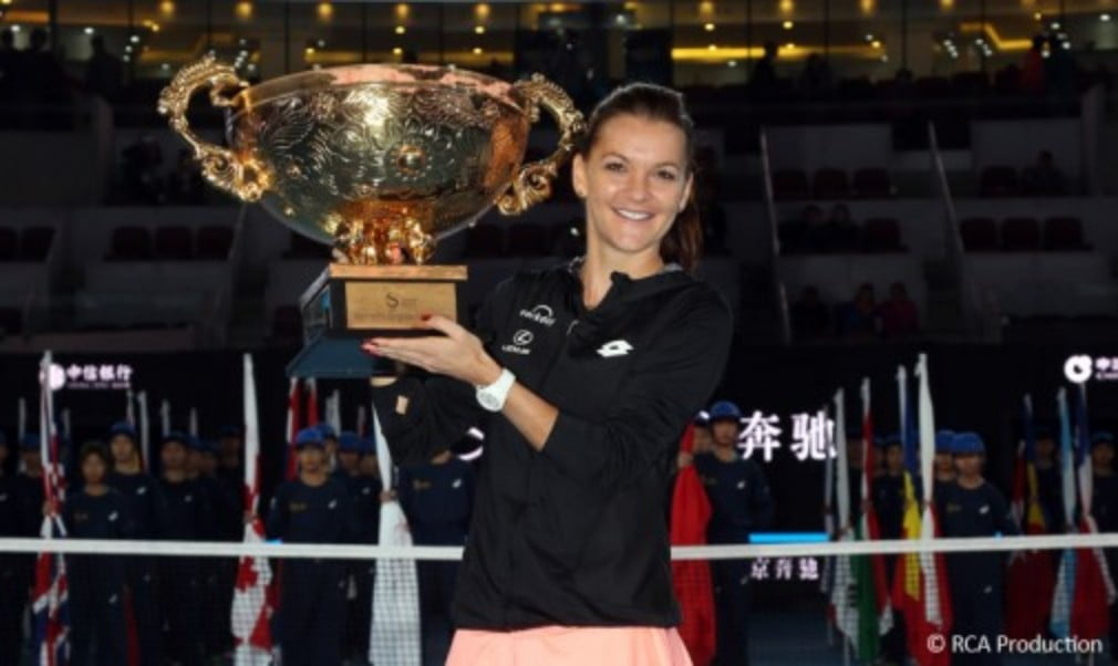 Johanna Konta made her Top 10 debut despite defeat to Agnieszka Radwanska in the China Open final