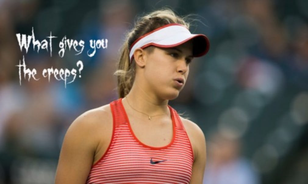 Professional tennis players have to be brave and fearless. But off the court? It's a different story altogether