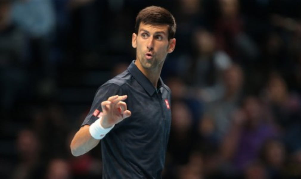 Novak Djokovic reached the semi-finals at the Barclays ATP World Tour Finals for a fifth straight year with victory over Milos Raonic