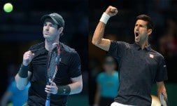 Andy Murray will take on Novak Djokovic in the final of the ATP World Tour Finals at The O2 on Sunday night