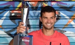 Grigor Dimitrov won his first ATP World Tour title since June 2014 with victory at the Brisbane International